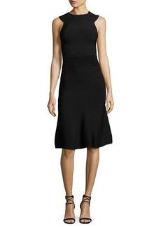 Cushnie Et Ochs Ribbed Sleeveless A-Line Dress