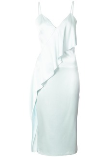 Cushnie Et Ochs ruffled dress - Blue