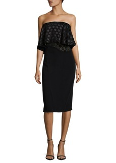 Cushnie et Ochs Ruffled Sheath Dress