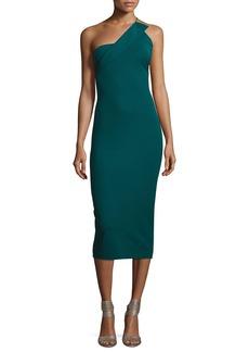 Cushnie Et Ochs Sandra One-Shoulder Sheath Dress
