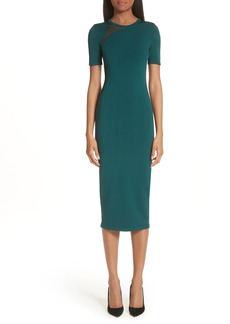 Cushnie et Ochs Sheer Panel Inset Knit Dress