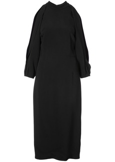 Cushnie Et Ochs sleeve slit dress - Black