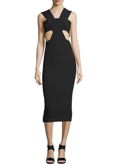 Cushnie Et Ochs Sleeveless Cowl-Neck Power Dress