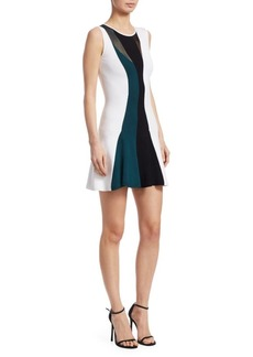 Cushnie Et Ochs Sleeveless Flare Mini Dress