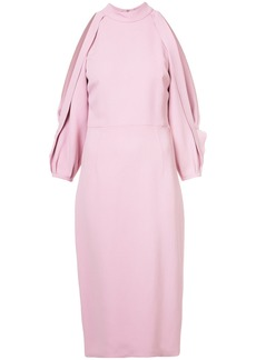 Cushnie Et Ochs slit sleeves fitted dress - Pink & Purple