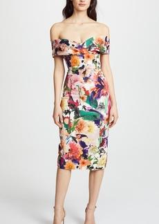 Cushnie Et Ochs Surrealist Floral Alba Dress