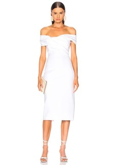 Cushnie et Ochs Twist Off Shoulder Pencil Dress