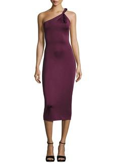 Cushnie Et Ochs Twist-Strap One-Shoulder Cocktail Dress