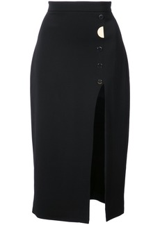 Cushnie Et Ochs V-neck button detail dress - Black