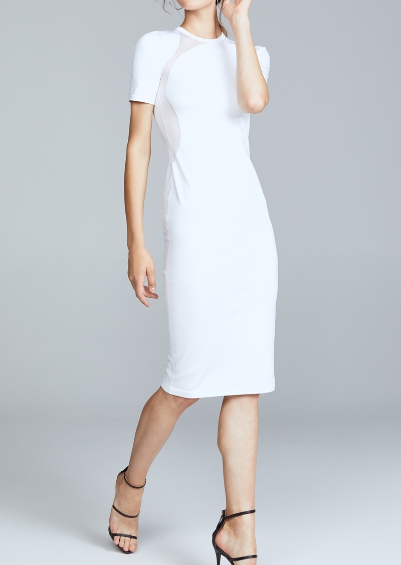 95628d163 Cushnie Et Ochs Cushnie White Gala Mesh Panel Dress Now $307.50