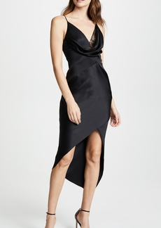 Cushnie Et Ochs Wraparound Dress with Front Cowl