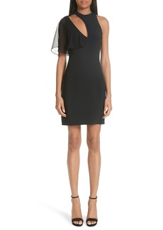 Cushnie et Ochs Xandra Chiffon Sleeve Cutout Dress