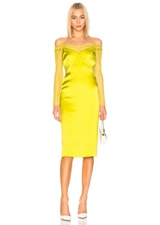 Cushnie Lace Underlay Pencil Dress