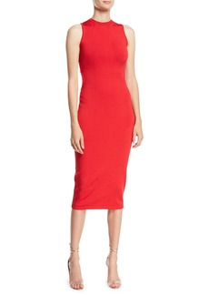 Cushnie Et Ochs CUSHNIE Sleeveless Body-Con Midi Dress w/ Cutout Back