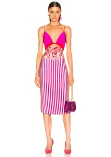 Cushnie Twisted Two Color Pencil Dress