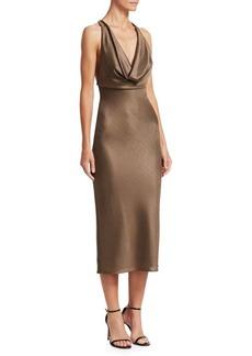 Cushnie Et Ochs Draped Midi Dress