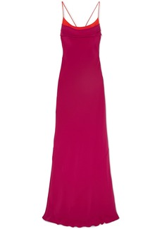 Cushnie Draped Open-back Silk-crepe Gown