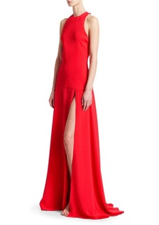 Cushnie Et Ochs Drop Waist Back Cutout Gown