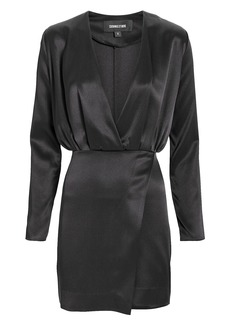 Cushnie Et Ochs Elin Blouson Silk Mini Dress