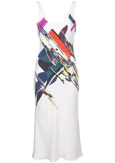 Cushnie Et Ochs expressionist print midi dress