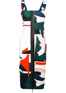 Cushnie Et Ochs expressionist print zip-up dress