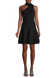 Cushnie Et Ochs Fit-&-Flare Choker Dress