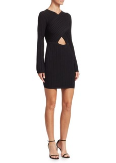 Cushnie Et Ochs Flare Knit Mini Dress