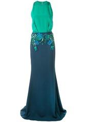 Cushnie floral appliqué dress