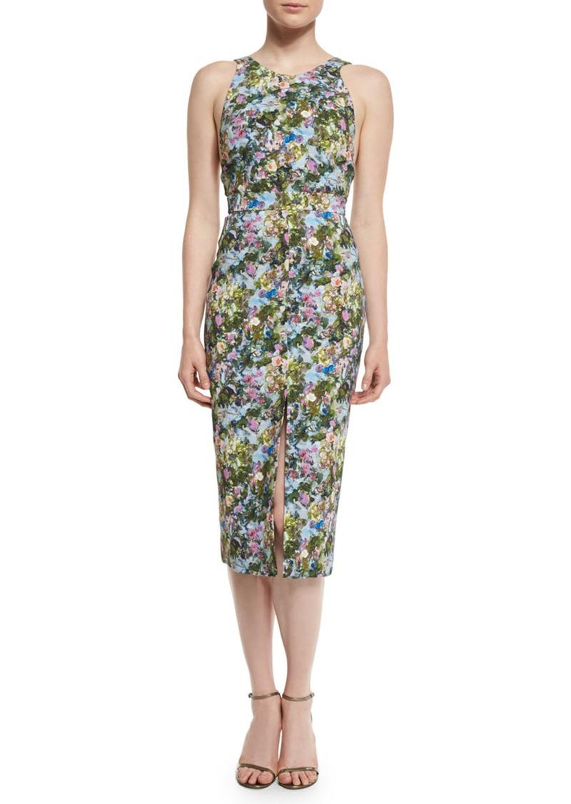 Cushnie Et Ochs Floral Open-Back Sleeveless Dress
