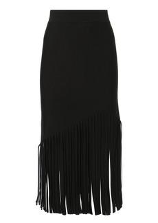 Cushnie Et Ochs Fringed Hem Midi Skirt