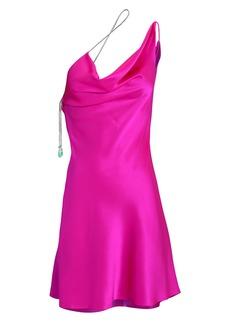Cushnie Fuschia Chi Charmeuse Mini Dress