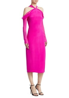 Cushnie Et Ochs Halterneck Sheath Dress