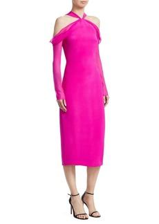 Cushnie Et Ochs Halterneck Sheath Dress