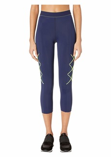 Cushnie High-Waisted Cropped Leggings with Tipped Elastic