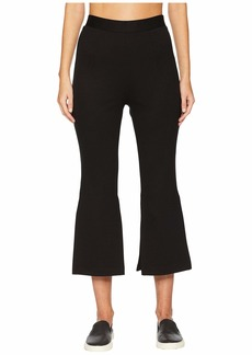 Cushnie High-Waisted Cropped Pants with Slits At Sides