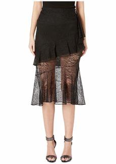 Cushnie Et Ochs High-Waisted Midi Length Lace Skirt