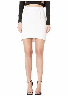 Cushnie Et Ochs High-Waisted Mini Skirt with Curved Hem and Topstitching