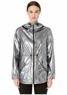 Cushnie Hooded Jacket with Adjustable Waist and Pockets