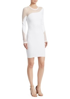 Cushnie Et Ochs Illusion Knit Bodycon Dress