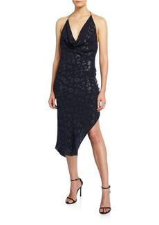 Cushnie Leopard Mini Halter Dress