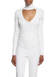 Cushnie Et Ochs Long-Sleeve Mock-Neck Bodysuit