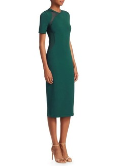 Cushnie Et Ochs Mesh Panel Sheath Dress