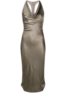 Cushnie Et Ochs metallic cocktail dress