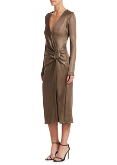 Cushnie Et Ochs Midi Wrap Dress