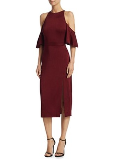 Cushnie Et Ochs Mona Cold-Shoulder Sheath Dress