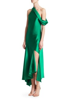 Cushnie Et Ochs Off-Shoulder Cascading Skirt Dress