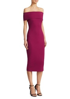 Cushnie Et Ochs Off-The-Shoulder Midi Dress
