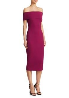 Cushnie Et Ochs Off-The-Shoulder Midi Dress