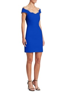 Cushnie Et Ochs Off-The-Shoulder Mini Sheath Dress