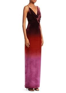 Cushnie Et Ochs Ombré Silk Column Gown